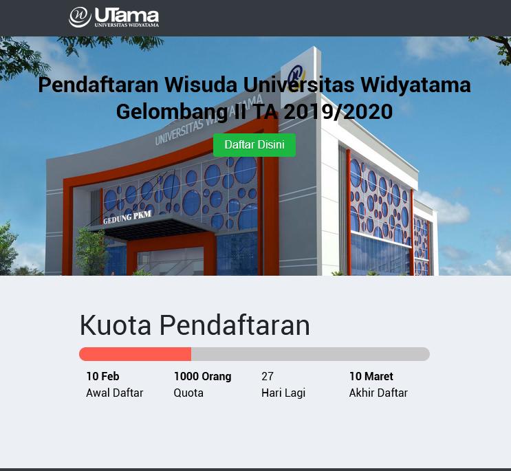 Pendaftaran Wisuda Gelombang II TA 2019/2020